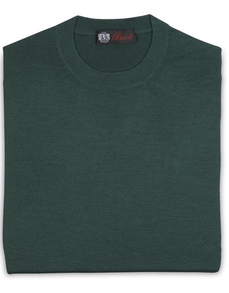 Cashmere / Silk Crew Neck Sweater, Emerald