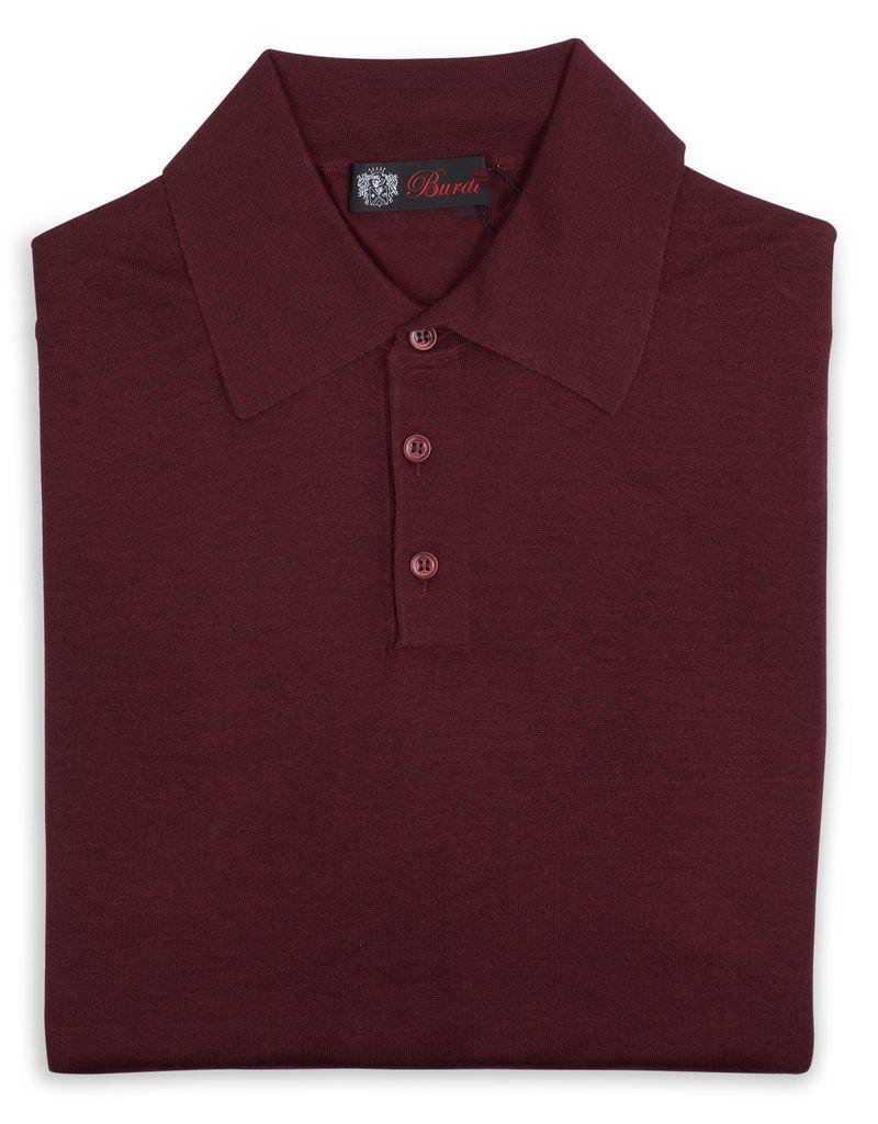 Cashmere / Silk Polo Sweater, Burgundy