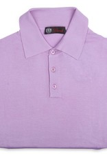 Cashmere / Silk Polo Sweater, Lavender
