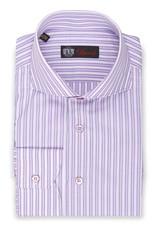 Purple & White Striped Shirt