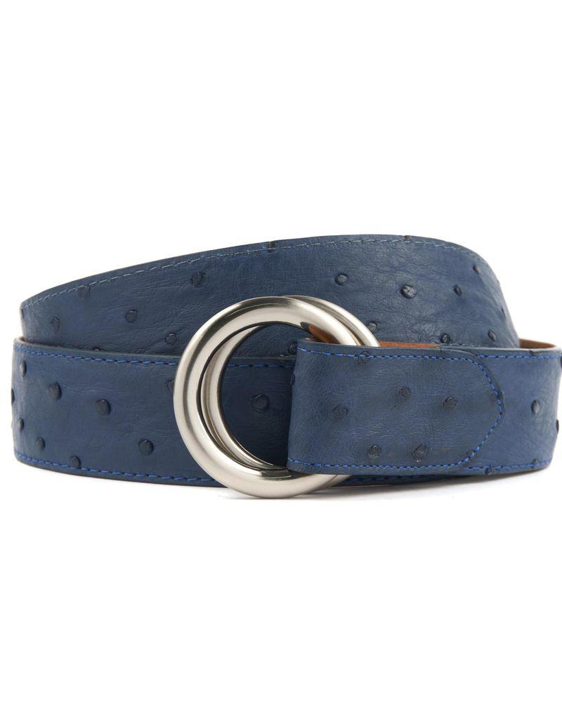 Ostrich Belt with O-ring buckle (Multiple Colors)