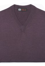 Cashmere / Silk V Neck Sweater, Berry