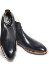 Chelsea Boots in Peccary Leather with Tricolor Rubber Sole