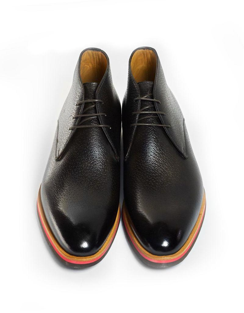 Chukka Boots in Peccary Leather with Tricolor Rubber Sole