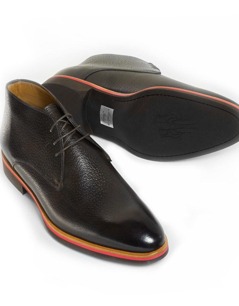 adc005ac6 Chukka Boots in Peccary Leather with Tricolor Rubber Sole - Burdi