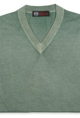 Cashmere / Silk V Neck Sweater, Sage