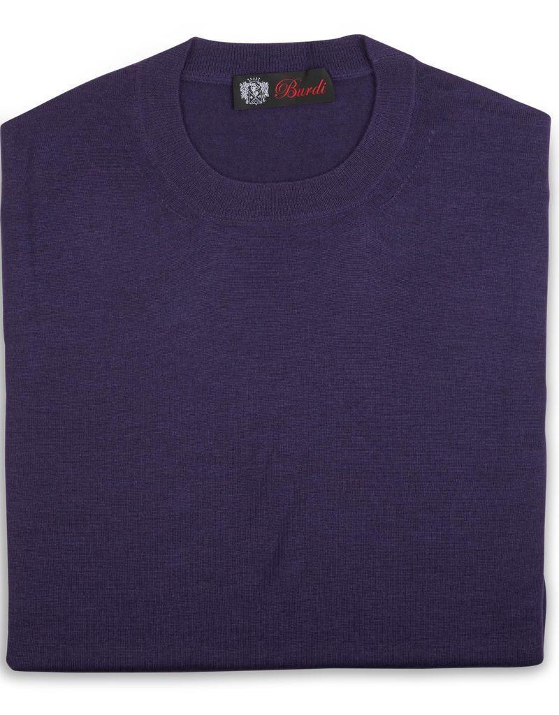 Cashmere / Silk Crew Neck Sweater, Purple