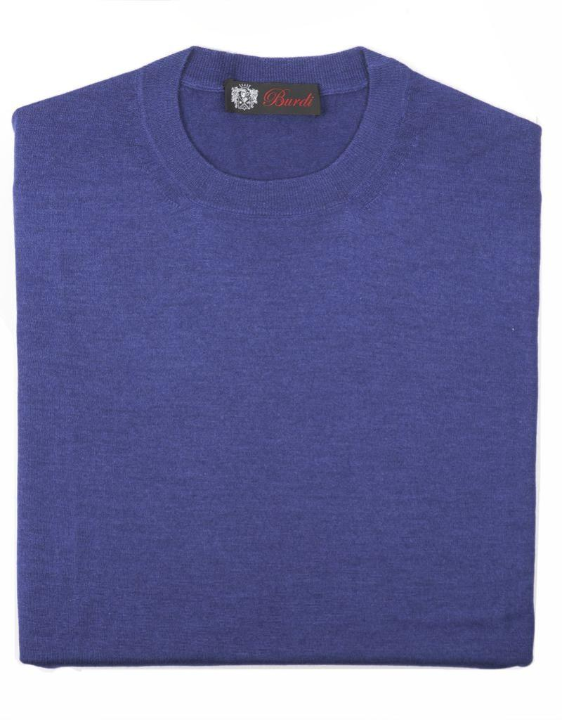 Cashmere / Silk Crew Neck Sweater, Cobalt