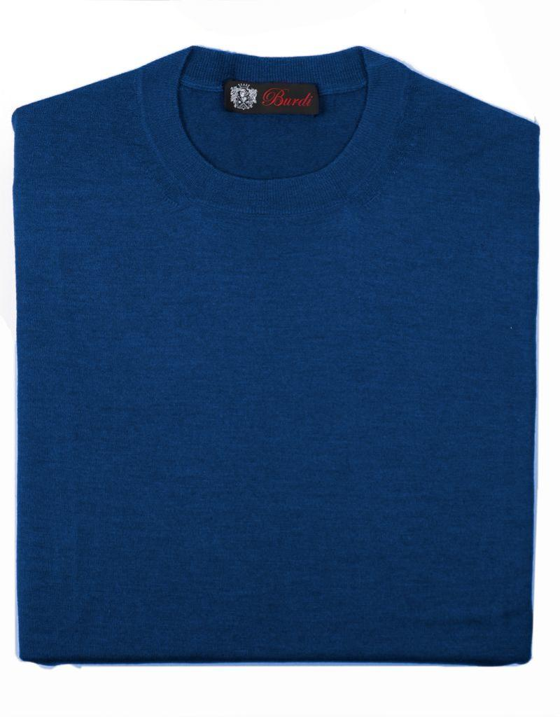 Cashmere / Silk Crew Neck Sweater, Royal Blue