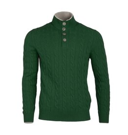 Cable Knit Sweater - Green