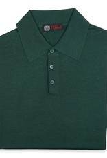 Cashmere / Silk Polo Sweater, Emerald