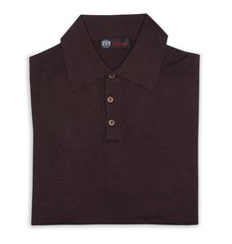 Cashmere / Silk Polo Sweater, Brown