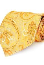 Yellow Paisley Seven Fold Silk Tie
