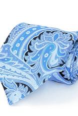 Black & Blue Paisley Seven Fold Silk Tie