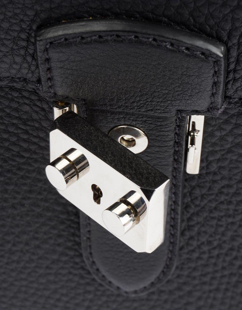 Black & Dark Brown Calfskin Double Sided Briefcase