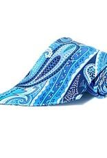 Blue Paisley Diagonal tip Tie