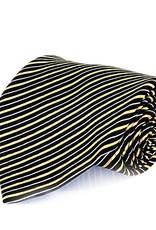 Black & Yellow Stripe Seven Fold Silk Tie