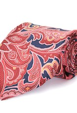 Midnight & Red Paisley Seven Fold Silk Tie