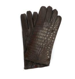 Crocodile Skin / Lamb skin Gloves with 100% Cashmere lining