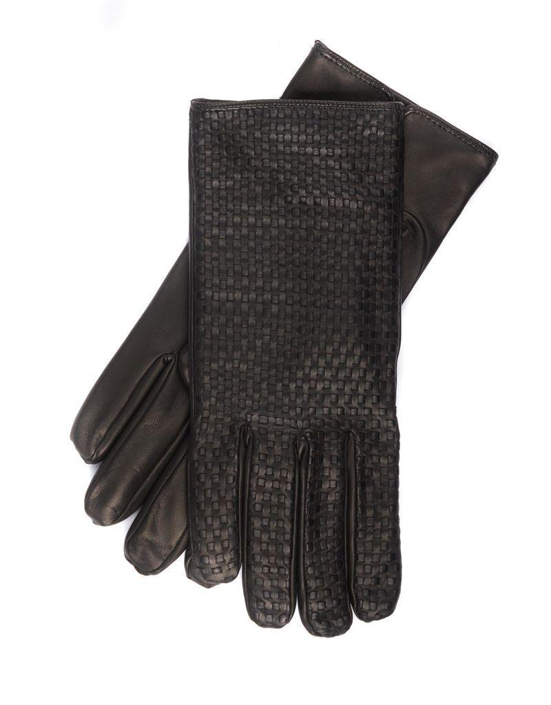 f75806ddfa07 Braided Nappa Leather Gloves