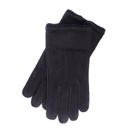 Blue Capybara Leather Gloves