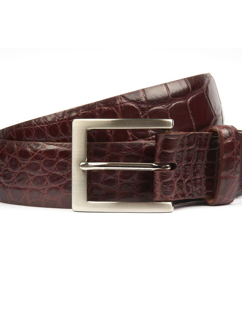Burgundy Alligator Belt