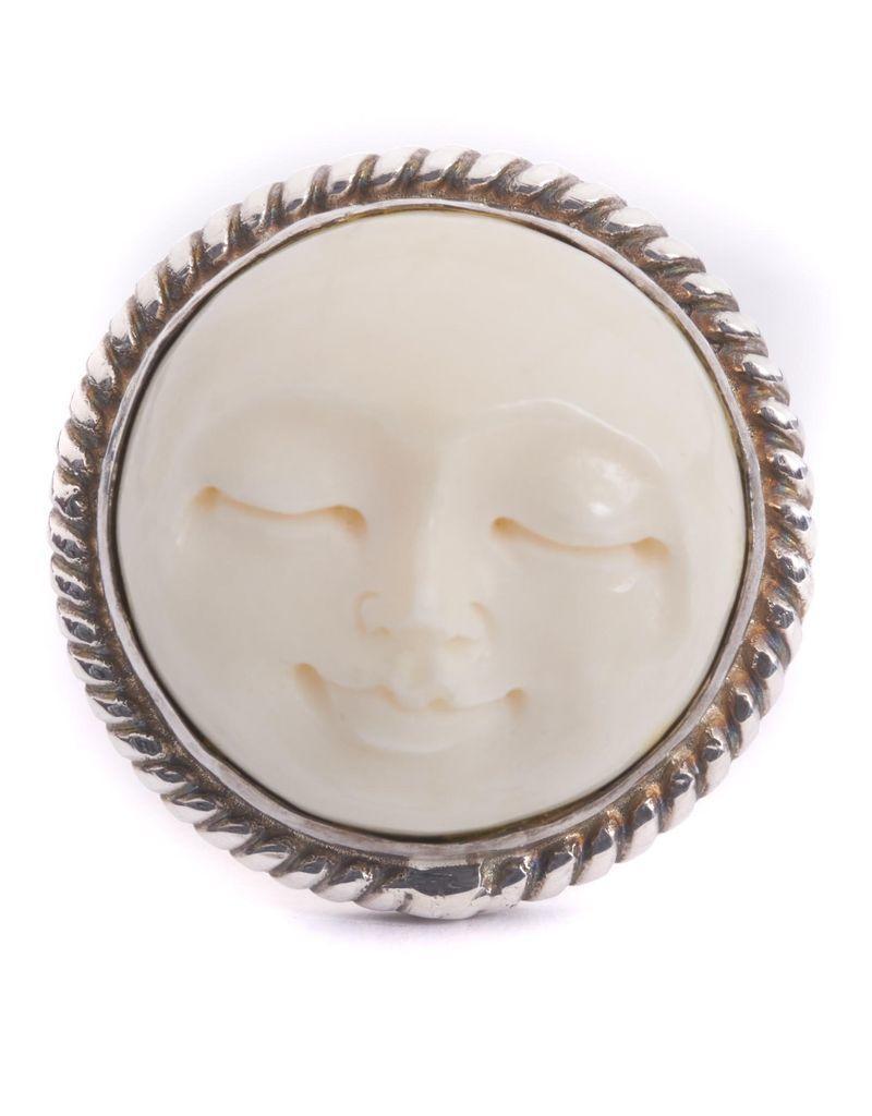 Hand-carved sleeping face cufflinks