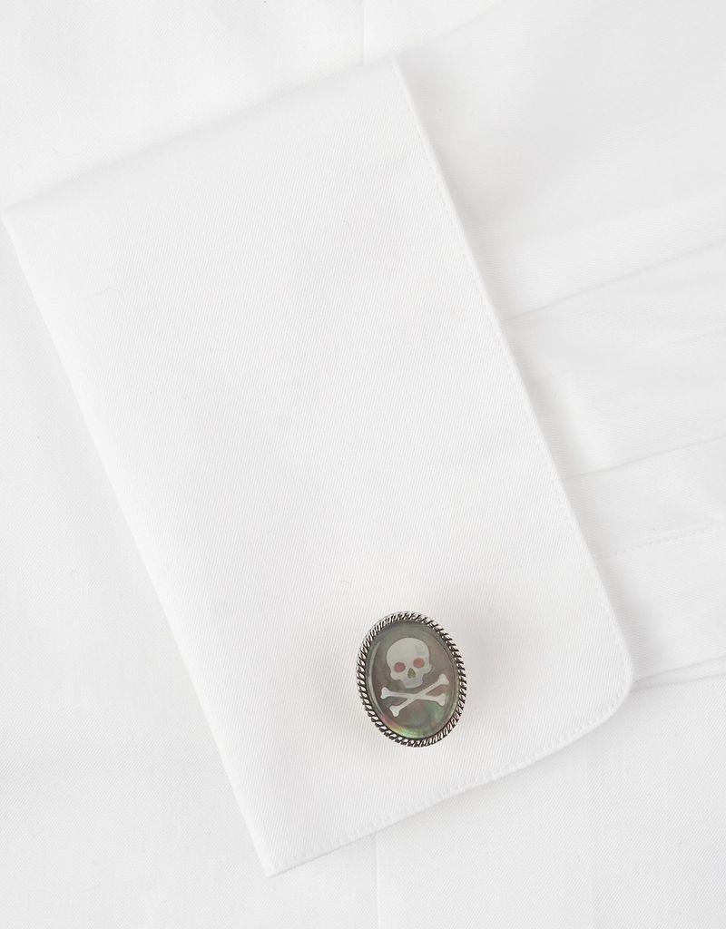 Skull Cameo Oval Cufflinks