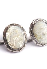 Mother of Pearl Dragon Cufflinks