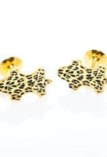 Leopard Enameled Cufflinks