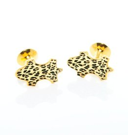 Leopard Enameled Cufflinks