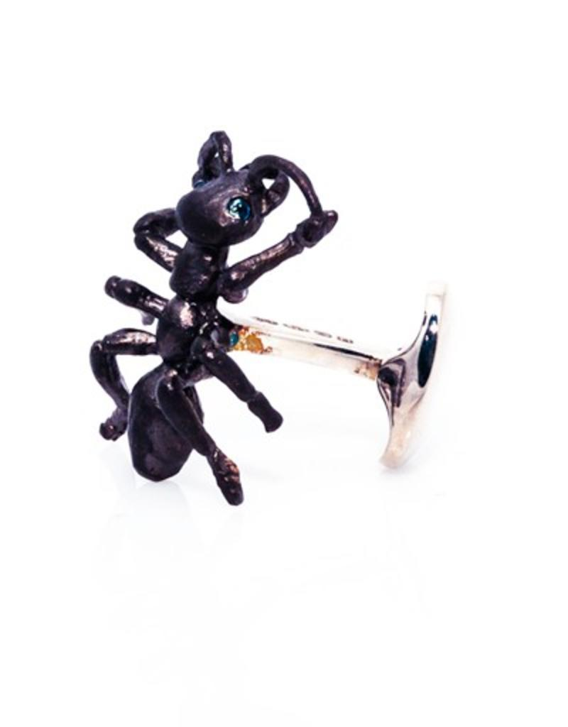 Black Sterling Ant Cufflinks