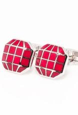 Red Octagonal Cufflinks