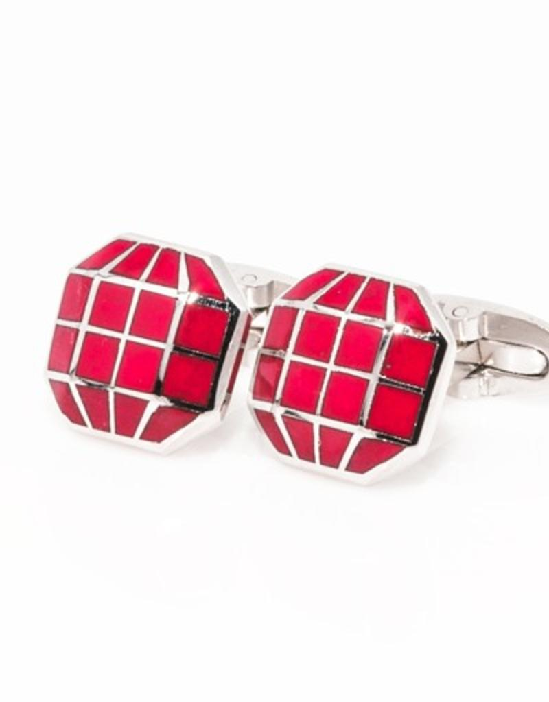 Red Octagonal Cufflinks