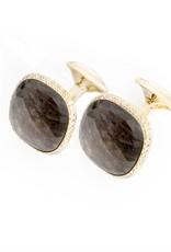 Gold Sapphire Cufflinks