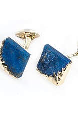 Gold Lapis Cufflinks