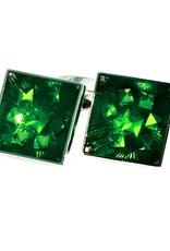 Green Crystal Cufflinks