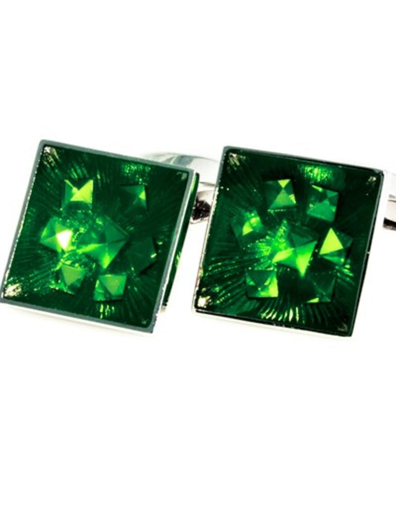 Green Crystal Cufflinks