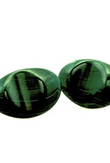 Green Malachite Sterling Silver Cufflinks