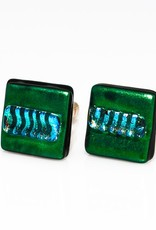 Murano Glass Green & Blue Cufflinks