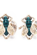 Sterling Silver Fly Cufflinks