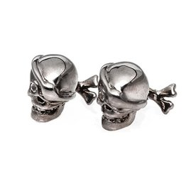 Black rhodium Pirate skull cufflinks