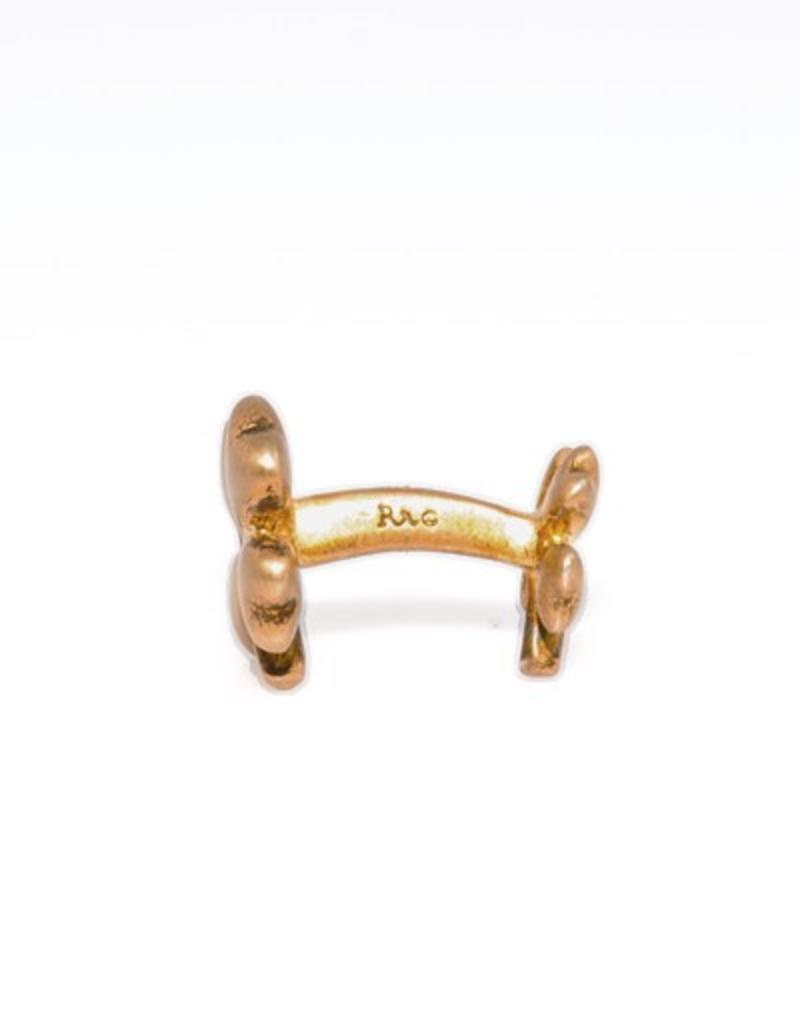 Gold plated Clover cufflinks