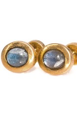 Labradorite Gold Oval cufflinks