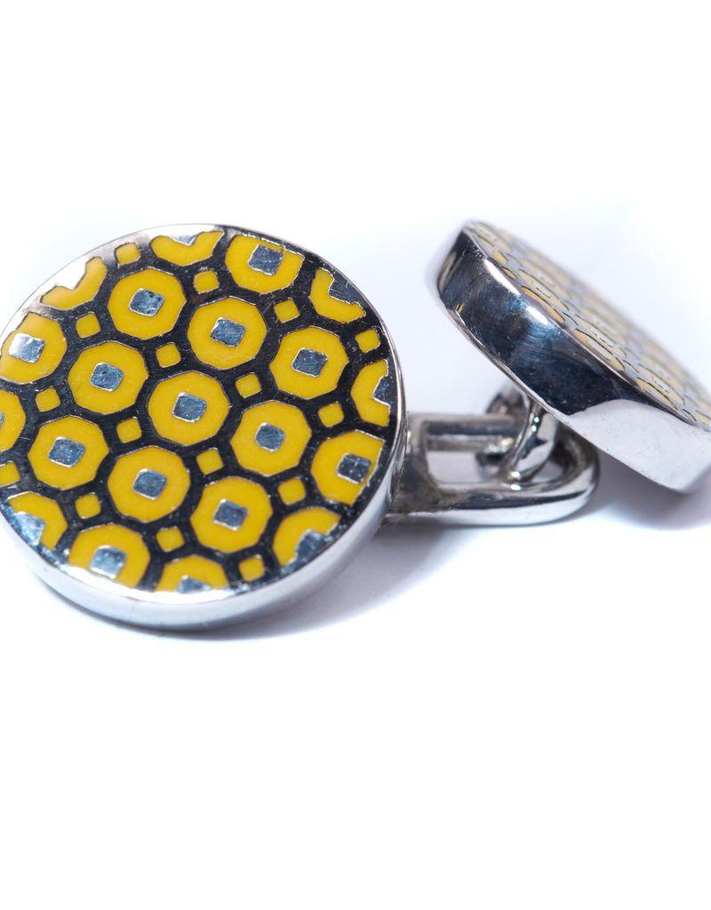 Yellow & Black Cufflinks