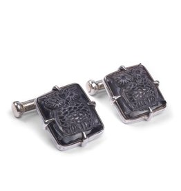 Hoot! Mother of Pearl Cufflinks