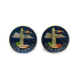 Coin Cufflinks - Barbados
