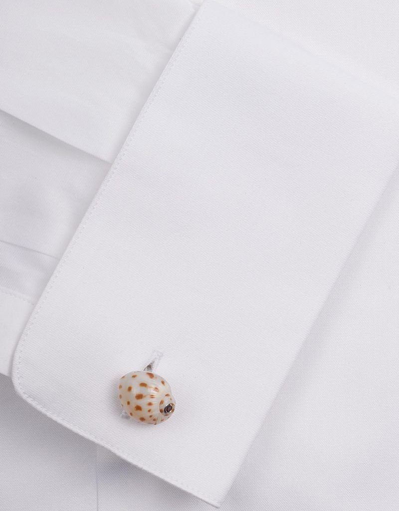 White Shell Sterling Silver Cufflinks