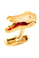 Yellow Gold Crocodile Cufflinks