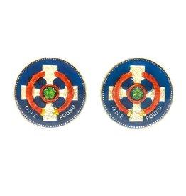 Coin Cufflinks - England